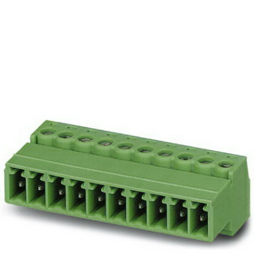 Phoenix Contact Phoenix 1858028 IMC 1 5/16-ST-3 81 Printed-Circuit Board Connector; 8 Amp Nominal, 160/320 Volt, Screw Connection, Green