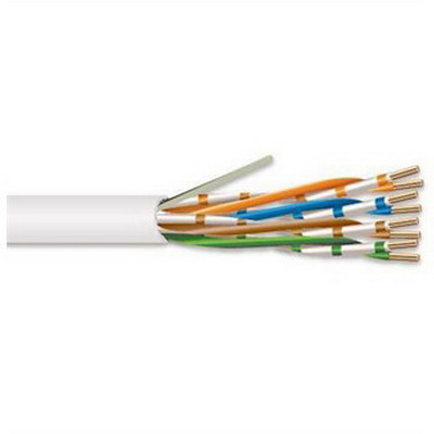 Superior-Essex 51-241-48 Marathon LAN Plenum Category 5e Cable 4-Pair Twisted  24 AWG  Solid Annealed Copper  Low Smoke PVC  0.190 Inch OD  White  1000 ft