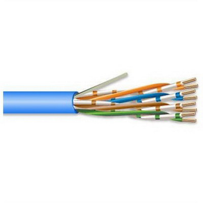 Superior-Essex 51-241-28 Marathon LAN® Plenum Category 5e Cable; 4-Pair Twisted, 24 AWG, Solid Annealed Copper, Low Smoke PVC, 0.190 Inch OD, Blue, 1000 ft