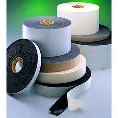 3M 4516-1INX36YD Single-Coated Foam Tape; 100 ft x 1 Inch x 0.062 Inch, Vinyl Foam Backing, Black