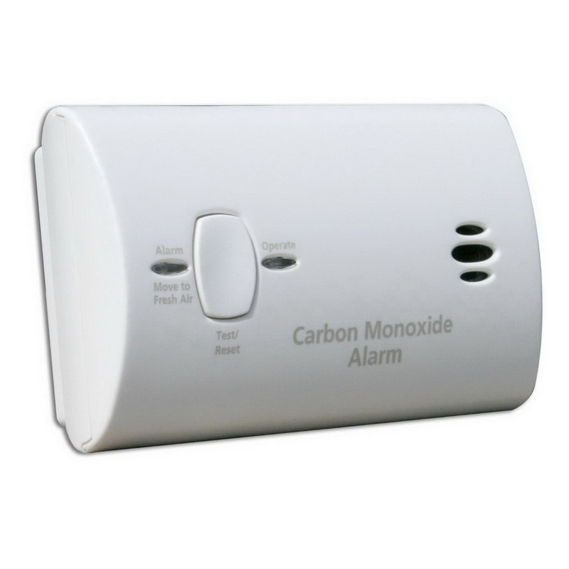 Kidde 9CO5-LP Battery Operated Carbon Monoxide Alarm; 85 DB At 10 ft Loudness, Surface/Wall/Ceiling Mount, White
