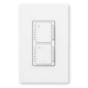 Lutron MA-LFQM-MS Maestro® Multi-location Fan/light Control; 1 Amp, 120 Volt AC, 1-Pole, Wall Box Mount, Mocha Stone