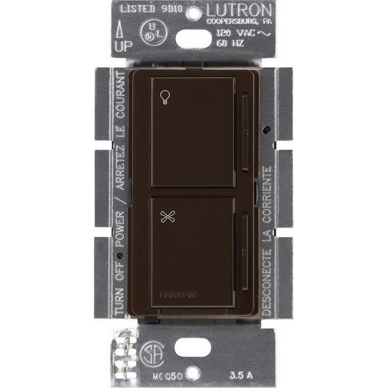 Lutron MA-ALFQ35-BR Maestro® Companion Fan/Light Control; 3.5 Amp, 120 Volt, Wall Box Mount, Brown
