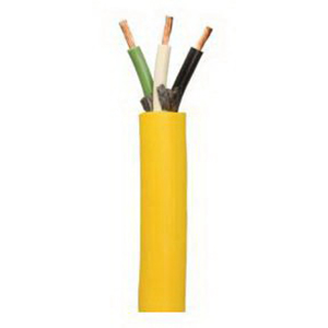 Coleman Cable / CCI 23349-09-02 Suprene™ SJEOOW Cable; 104/30 Strands, (3) 10 AWG Conductor, 30 Amp, 300 Volt, TPE Jacket, Yellow