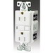 Cooper Wiring TRVGF20FW Arrow Hart® Straight Blade Specification Grade Duplex GFCI Receptacle; 20 Amp, 125 Volt, 2-Pole, Nylon Top Housing and PVC Bottom Housing, White
