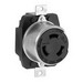 Cooper Wiring 7379 Hart-Lock® California Standard Receptacle; 250 Volt DC/600 Volt AC, 3-Pole, 10-6 AWG, Steel, Black