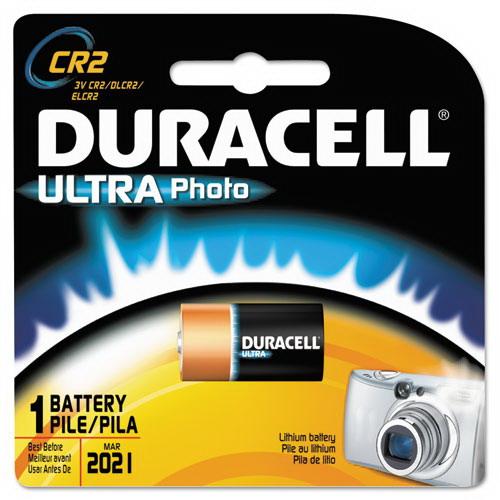 Duracell DLCR2BPK Cylinder Ultra Photo Lithium Manganese Dioxide Battery; Lithium-Manganese Dioxide, CR2, 3 Volt, 5.168 Cubic-cm