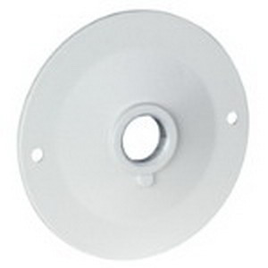 Red Dot DSS-1 D-Pak Standard Round Lamp Holder Cover 4-1/8 Inch Dia  1 Holes  1/8 IPS Tapped Bushing  Twist Lock Mount  Stamped Aluminum  Silver