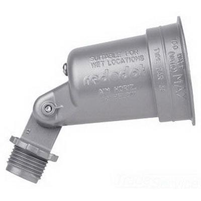 Red Dot DL-80 Carlon® Dry-Tite® D-PAK™ Weatherproof Gasketed Outdoor Lampholder; 75 - 150 Watt, Medium Base, Die-Cast Zinc Alloy ZAMAK 3, Silver
