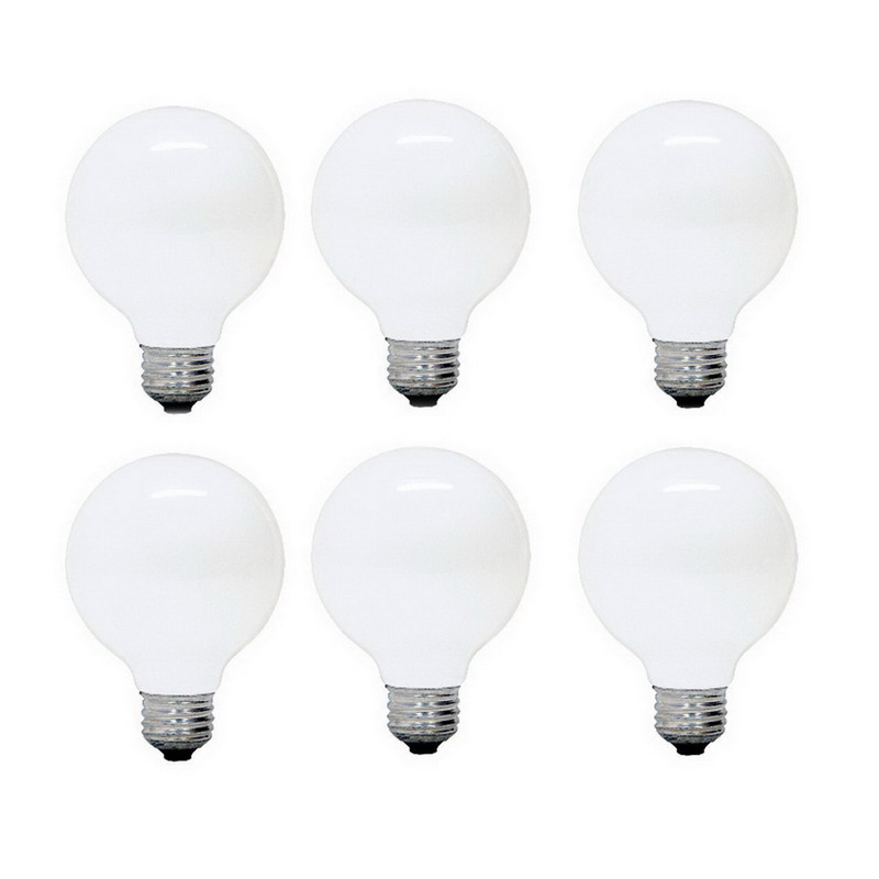 GE Lamps 40G25/W-PROLINE-130 ProLine® Incandescent Lamp; 40 Watt, 130 Volt, 260 At Initial Lumens, 1500 Hour, Medium Base, 3.125 Inch Dia, 4.500 Inch, Frosted/White Globe