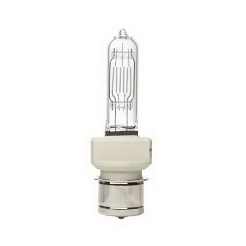 GE Lamps BTL-Q500T6/CL/P-120 Frosted Quartz Halogen Lamp; 500 Watt, 120 Volt, 750 Hour, 22 Lumens/Watt, 11000 Nominal Lumens, 100 CRI, 3050K, P28S-24 Base, Clear