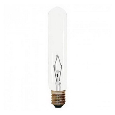 GE Lamps 15T6/CL/PRO-145 Proline® Incandescent Tublular Light Bulb; 15 Watt, 145 Volt, 100 Lumens, 2000 Hour, Intermediate Base, Clear