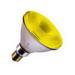 SLI Sylvania 100PARFLYRP Capsylite® Halogen Lamp; 100 Watt, 120 Volt, 100 CRI, 2850K, 2000 Hour, Medium Skirted Base, 8 Inch Dia(x 5-5/16 Inch MOL, Yellow