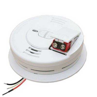 """""""""""Kidde I12010S Power Supply With Battery Backup Hardwire Interconnectable Worry-Free Wire-in Smoke Alarm 120 Volt AC, 45 Milli-Amp, 85 DB At 10 ft Loudness, White,"""""""""""" 109419"""