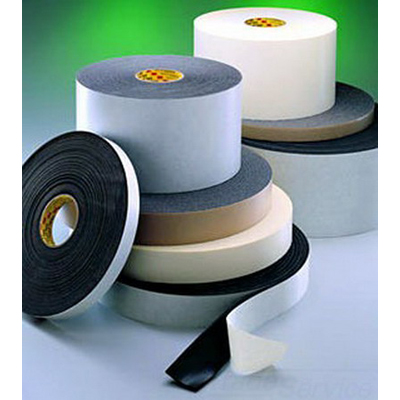 3M 4718-1INX36YD Single-Coated Foam Tape; 100 ft x 1 Inch x 0.125 Inch, Vinyl Foam Backing, Black