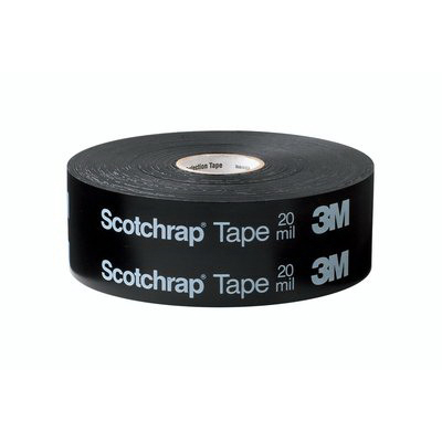 3M 50-UNPRINTED-2X100FT-BOX Scotchrap® Unprinted All-Weather Corrosion Protection Tape; 100 ft x 2 Inch x 10 mil, PVC Backing, Pressure Sensitive Rubber Adhesive, Black