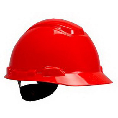 3M H-705R-INDIVIDUAL Non-Vented Individual Cap Style Hard Hat; 4-Point Ratchet Suspension, Class C/G/E Dielectric, HDPE, Red, 20/CS