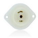 Leviton ML3-PER MiniLock™ Flanged Outlet Locking Receptacle; 125/250 Volt, 15 Amp, 3-Pole, 3-Wire