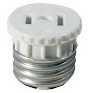 Leviton 125 Lampholder Outlet Adapter; 660 Watt, 125 Volt, White