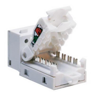 Leviton 5ETLS-RW5 HOME 5e™ Tool Free Snap-In Jack; IDC, White