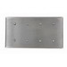 Leviton 84057-40 S44-N 4-Gang Standard Size Blank Wallplate; 302 Stainless Steel, Silver, Strap Mount