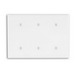 Leviton 88035 P34-W 3-Gang Standard Size Blank Wallplate; Thermoset, White, Strap Mount