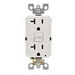 Leviton N7899-KW SmartlockPro® Monochromatic Slimline GFCI Receptacle; 20 Amp, 125 Volt, 2-Pole, Polycarbonate Body and Thermoplastic Face, White