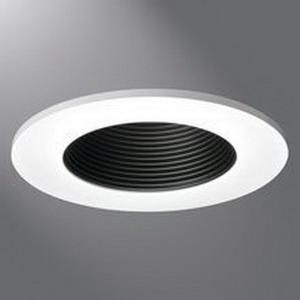 Cooper Lighting TL411WB 4 Inch Aperture LED Regressed Lens Baffle Trim; Aluminum Reflector, Die-Cast Trim Ring, White Reflector, White Ring