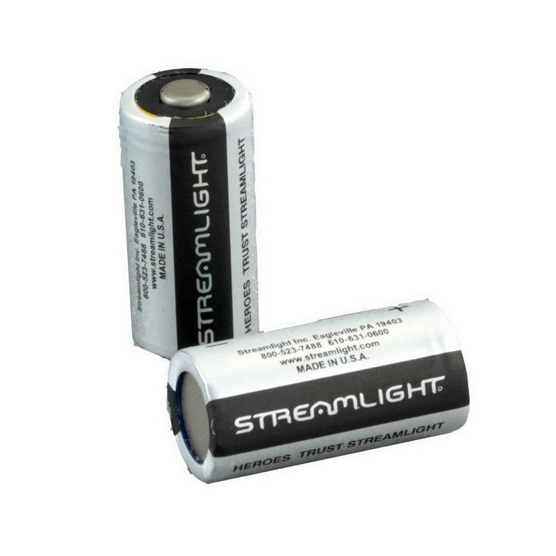Streamlight 85180 Lithium Battery; Lithium, CR123A, 3 Volt, 1400 Milli Amp-Hour
