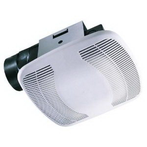 Air King BFQ90MBG Exhaust Fan Contractor Finish Pack BFQ Series; 50 Watt, 120 Volt, 0.5 Amp, 1375 RPM, 90 cfm At 0.1 Inch, Snap-In Mount, White
