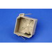Allied Moulded 9343-N Fiberglassbox™ Square Junction Box With Speed Klamps; 4-1/16 Inch Width x 2-1/2 Inch Depth x 4-1/16 Inch Height, Fiberglass