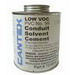 Cantex 7210602 Solvent Cement; 1 pt, Can, Clear