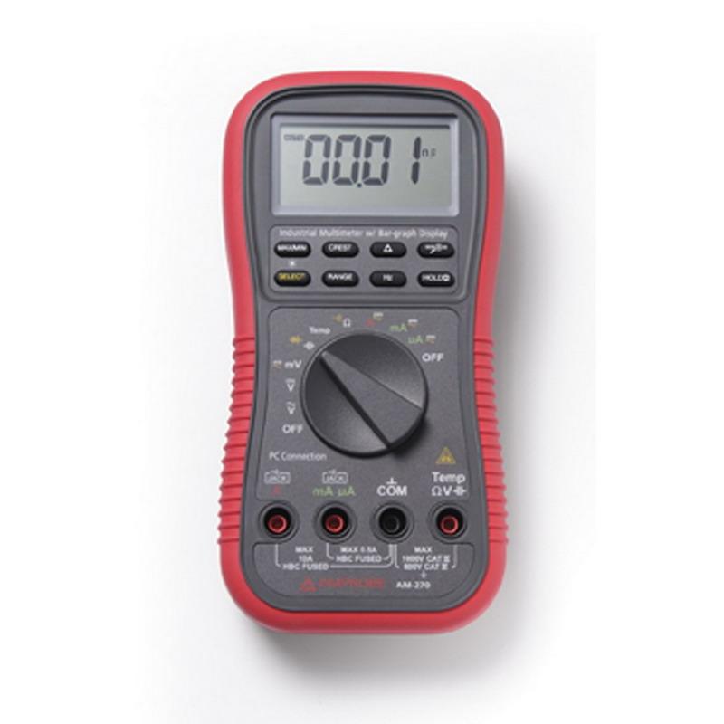 "Fluke AM-270 Industrial Multimeter 50 Micro-Volt AC/DC - 1000 Volt AC/DC, 10 Amp,"""