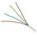 Genesis Cable 50661001 Catlink Dual Zip Category 5e/RG6Q UTP Quad Coax Cable; 300 Volt, 4-Pair, 24 AWG, PVC, White, 1000 ft Length Reel