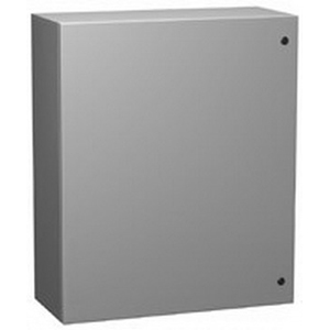 Hammond EN4SD24248GY Eclipse Series Quarter Turn Latch Style Enclosure; 24 Inch Width x 8 Inch Depth x 24 Inch Height, Phosphatized Cover Recoatable Powder Enclosure, (2) Hinge Cover