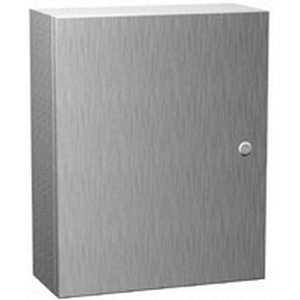 Hammond EN4SD16166SS Eclipse Series Quarter Turn/Handle Enclosure; 16 Inch Width x 6 Inch Depth x 16 Inch Height, Smooth Brushed, Hinged Cover