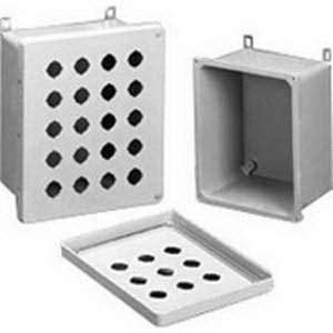 Hammond 14R1311 Inner Removable Panel; 14 Gauge Steel, White, For Mounting Electrical Equipment Inside Enclosures, EJ Series 12 Inch Width x 14 Inch Height and PJ Series NEMA 4/4X 13.200 Inch Width x 15.080 Inch Height Enclosures