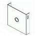 Hammond CWCP6 Closing Plate; Galvanized ANSI 61 Gray, 6 Inch x 6 Inch
