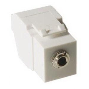 ICC IC107SAPWH 3.5 mm Stereo Audio Module Plug; 0.5 Amp, 50 Volt DC, White