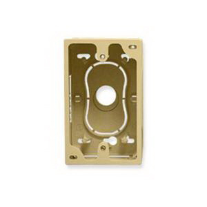 ICC ICACSMBSIV 1-Gang Faceplate Junction Box; 1.050 Inch Width x 1.890 Inch Depth x 1.800 Inch Height, ABS Plastic, Ivory