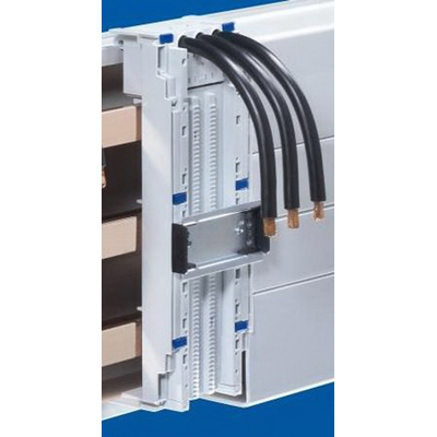 Rittal 9340700 Component Adaptor With Connection Cables; 690 Volt AC, 65 Amp, For Busbar 5/10 mm Thickness x 60 mm Center-To-Center Spacing