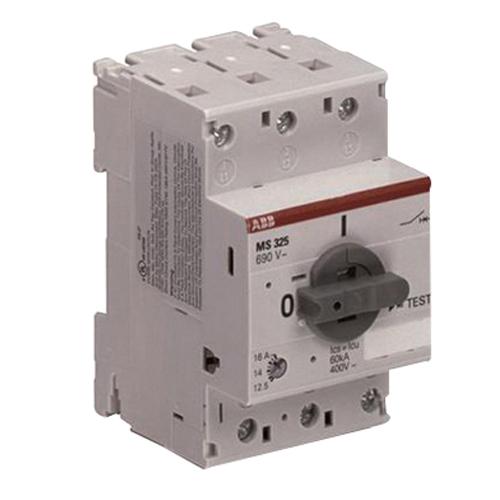 Abb ms325 12 5 on off manual motor starter 690 volt ac for Abb manual motor starter