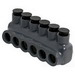 NSI IPLG6-6 Polaris Grey™ Multi-Tap Connector; 14-6 AWG, 6 Port, 600 Volt