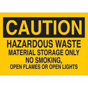 Brady 41272 Chemical and Hazardous Materials Sign Aluminum- Black On Yellow-