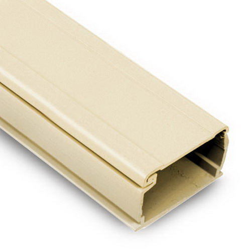 Multi-Link MRM12-I-T Pre-Adhesive Back Latch Duct Raceway; 6 Foot Length x 1-1/4 Inch Width, Ivory