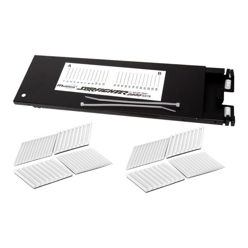 Multi-Link 70506K 2000-SSTA Splice Tray; Aluminum, Black