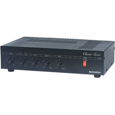 Bogen Communications C35 Classic Series Public Address Amplifier; 120 Volt AC, 35 Watt, Rack Mount, Black