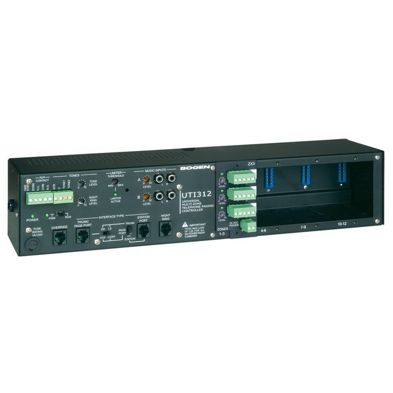 Bogen Communications UTI312 Paging Controller With Paging Module 0.75 Amp  120 Volt AC  Wall/Rack Mount
