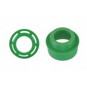 EPCO 17303 Vented UV Filtering Tube Guard End Cap; Polycarbonate, Green