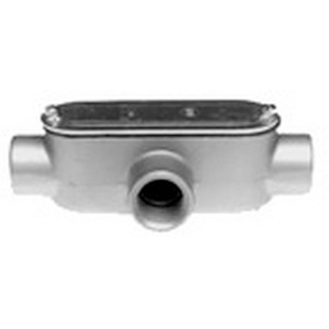 Bridgeport T-46CG Series 5 Type T Combination Conduit Body With Cover and Gasket; 2 Inch, Aluminum, FNPT